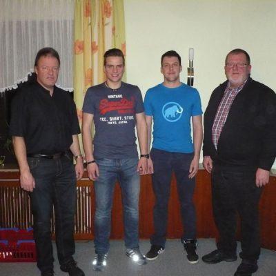 Matthias Müller, Robin Schürdt,Timo Herrmann und Klaus Schneider
